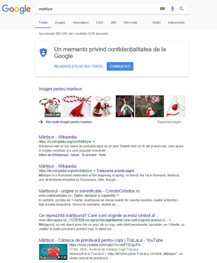 martisor cautare Google
